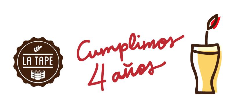 La tape celebra su cuarto aniversario factor a de cerveza for Cuartos decorados para aniversario